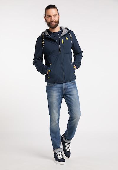 Schmuddelwedda Functionele jas in de kleur Donkergrijs: Vooraanzicht