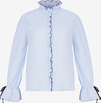 CUBIC Bluse in hellblau / schwarz, Produktansicht
