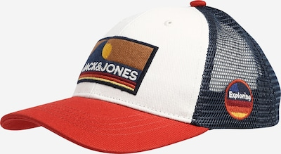 Jack & Jones Junior Cap 'EXPLORE TRUCKER' in blau / rot / weiß, Produktansicht