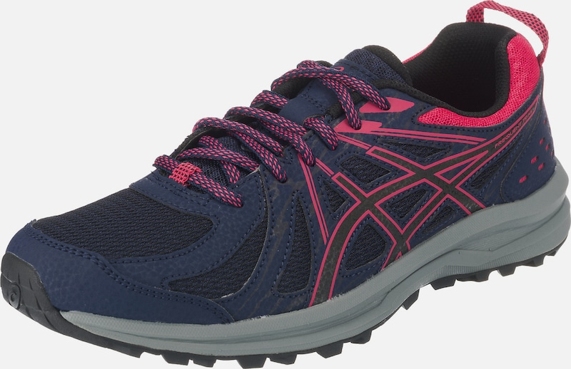 ASICS Trailrunningschuhe 'FREQUENT TRAIL' in blau / pink: Frontalansicht