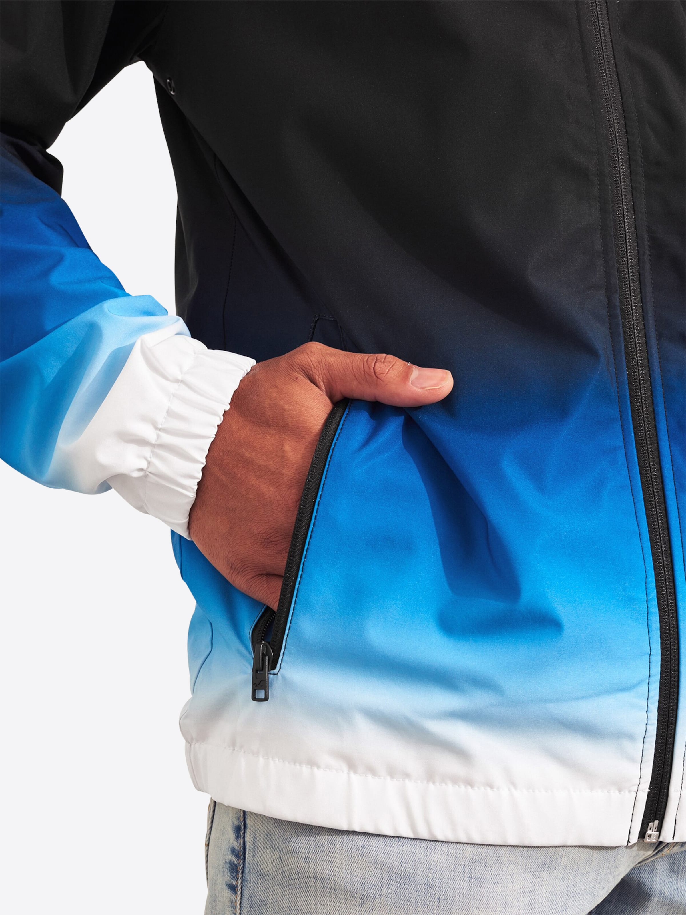 BlauSchwarz Hollister Jacke 'bts19 ombre' Weiß In E2WIHY9D
