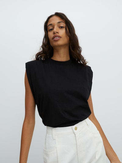 EDITED Shirt 'Elise' in schwarz, Modelansicht