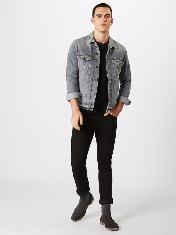ZwartWit Shirt Print Calvin Jeans Ls Reg' Back Klein In 'institutional Yyb6v7gf