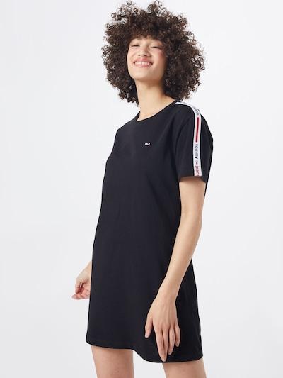 Tommy Jeans Kleid in navy / feuerrot / schwarz / weiß, Modelansicht