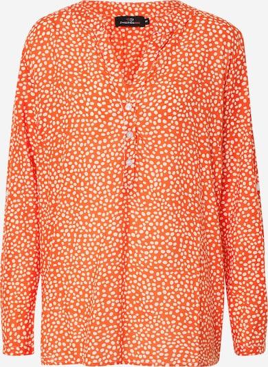 Zwillingsherz Bluse 'Amalia' in orangerot / weiß, Produktansicht