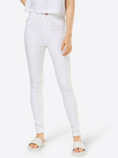Noisy may Skinny Jeans in High Waist in weiß: Frontalansicht