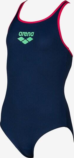 ARENA Badeanzug in nachtblau / apfel / rot: Frontalansicht
