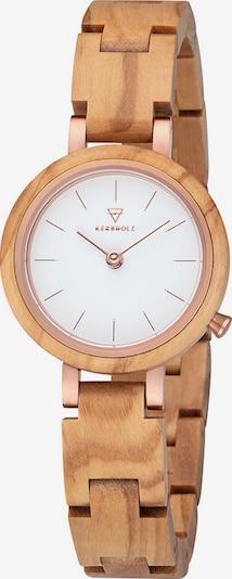 Kerbholz Uhr 'Matilda Olivewood WATWMAT9375' in cognac, Produktansicht