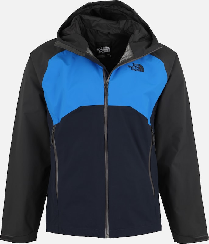THE NORTH FACE Wanderjacke 'Stratos' in blau / schwarz, Produktansicht