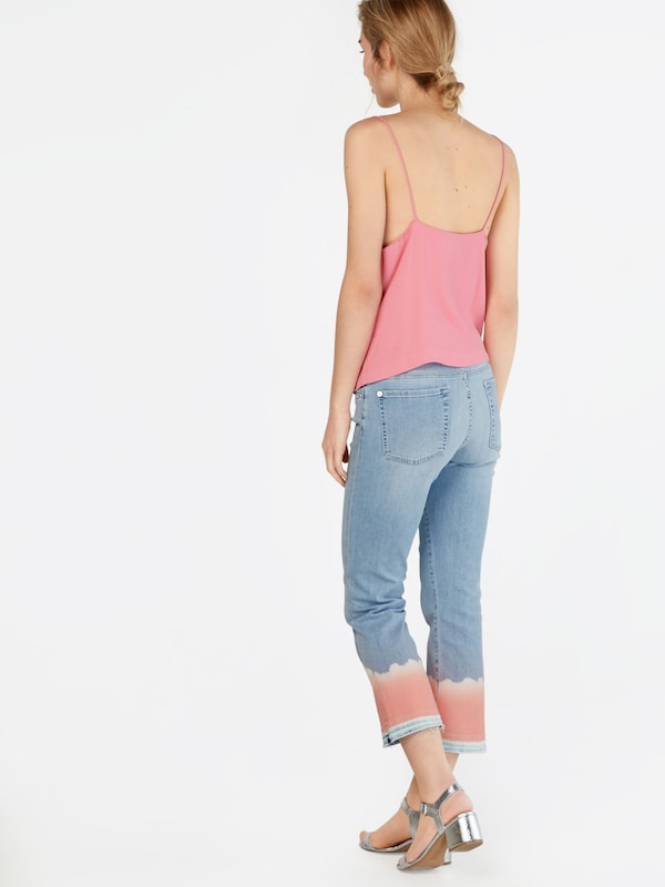 DenimCorail En 'cropped Boot Bleu 7 Mankind All For Unrolled' Jean rshQtCd
