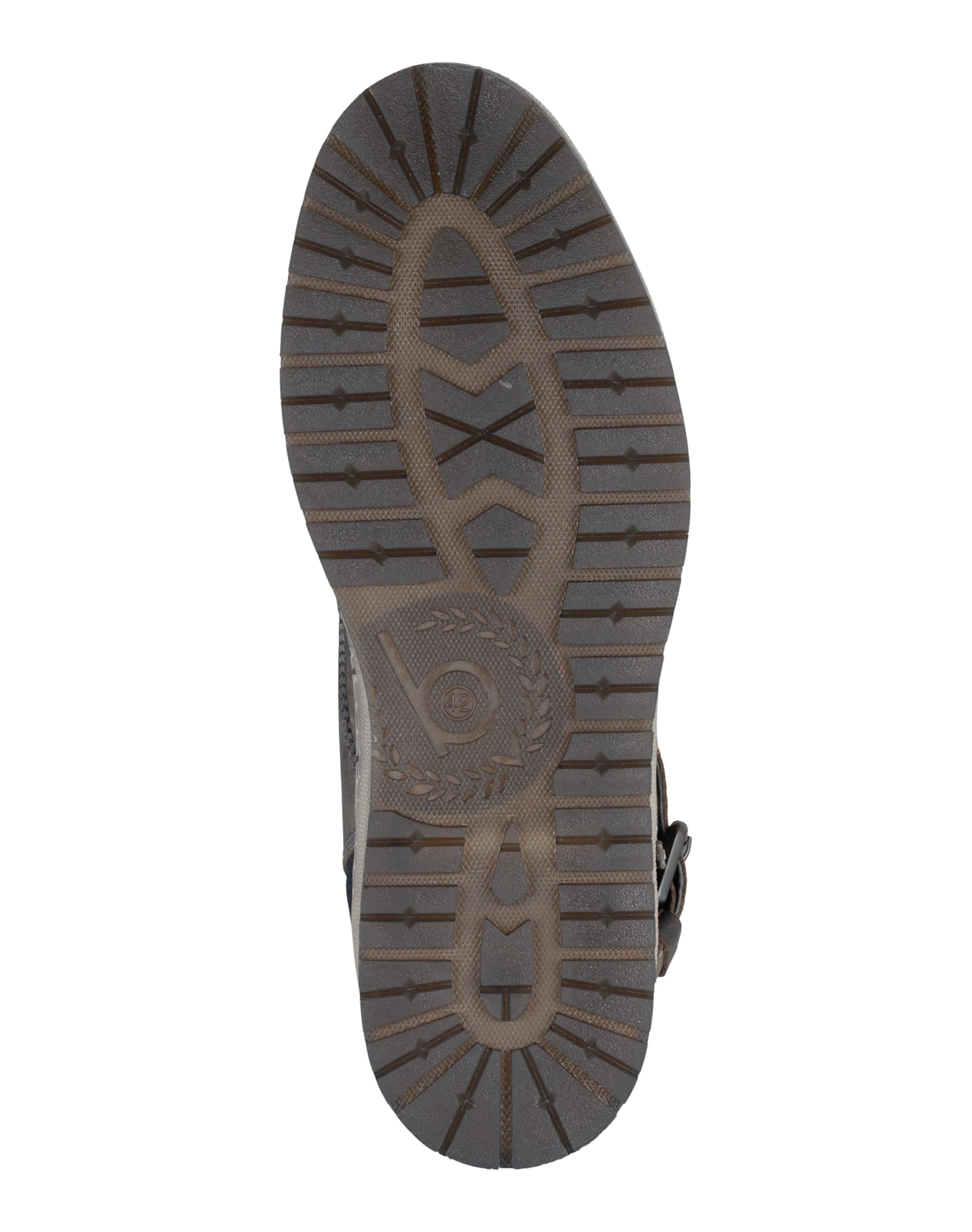 Grau Bugatti Schnalle Sneaker Mit In 34Rj5ALq