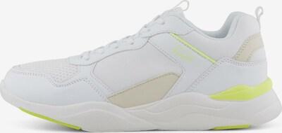 TOM TAILOR DENIM Sneaker in beige / neongelb / weiß, Produktansicht