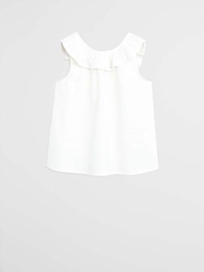 MANGO KIDS Top 'CAMISA GERANIO' w kolorze białym, Podgląd produktu