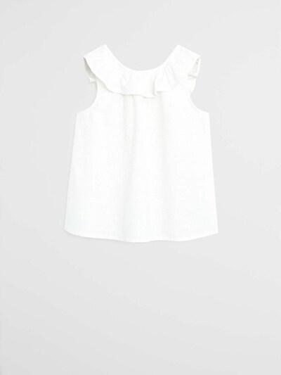 MANGO KIDS Haut 'CAMISA GERANIO' en blanc, Vue avec produit