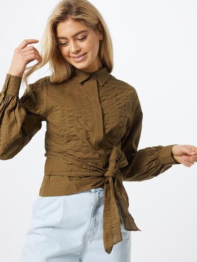 Envii Bluse in braun, Modelansicht
