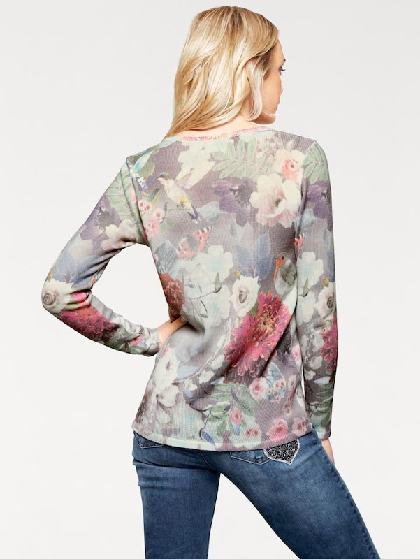 Bc Best Connections By Heine Print Pullover With Flowers