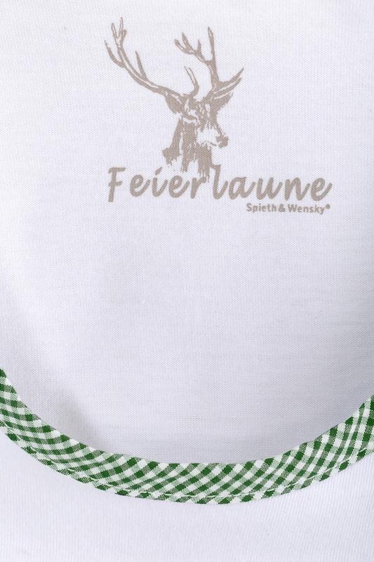 SPIETH & WENSKY Trachtenshirt mit Puffärmel