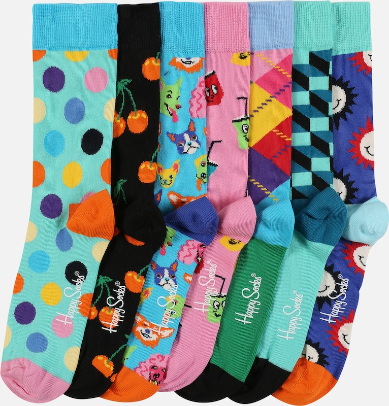 Happy Socks Socken '7-Day Gift Box' in mischfarben, Produktansicht