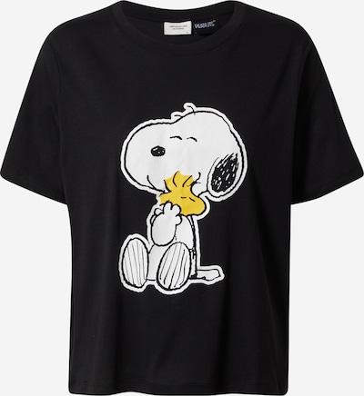 JACQUELINE de YONG T-Shirt 'Peanut' in gelb / schwarz / weiß, Produktansicht