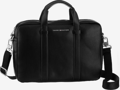 TOMMY HILFIGER Sac d'ordinateur portable en noir / argent, Vue avec produit