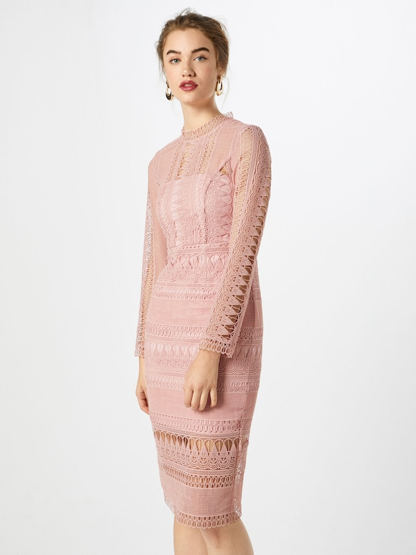 Bardot Kleid 'MARIANA LACE DRESS' in rosa, Modelansicht