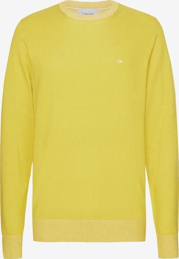Calvin Klein Organic Cotton Silk Jumper in zitronengelb, Produktansicht
