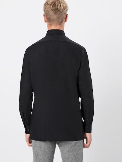 OLYMP Hemd 'Luxor Uni Pop' in schwarz: Rückansicht