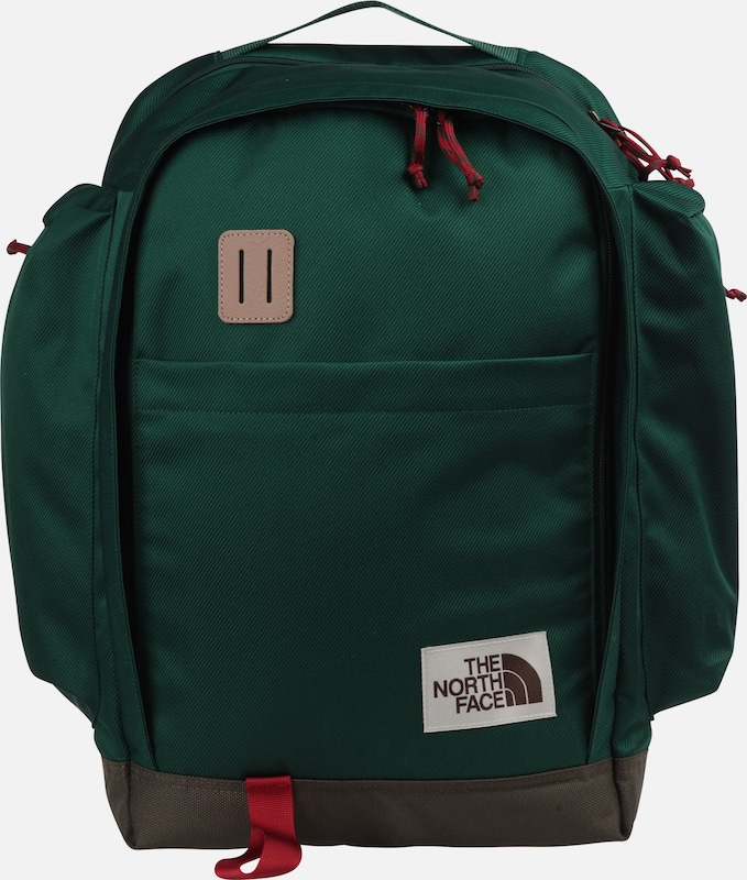 THE NORTH FACE Rucksack in beige / petrol / rot: Frontalansicht