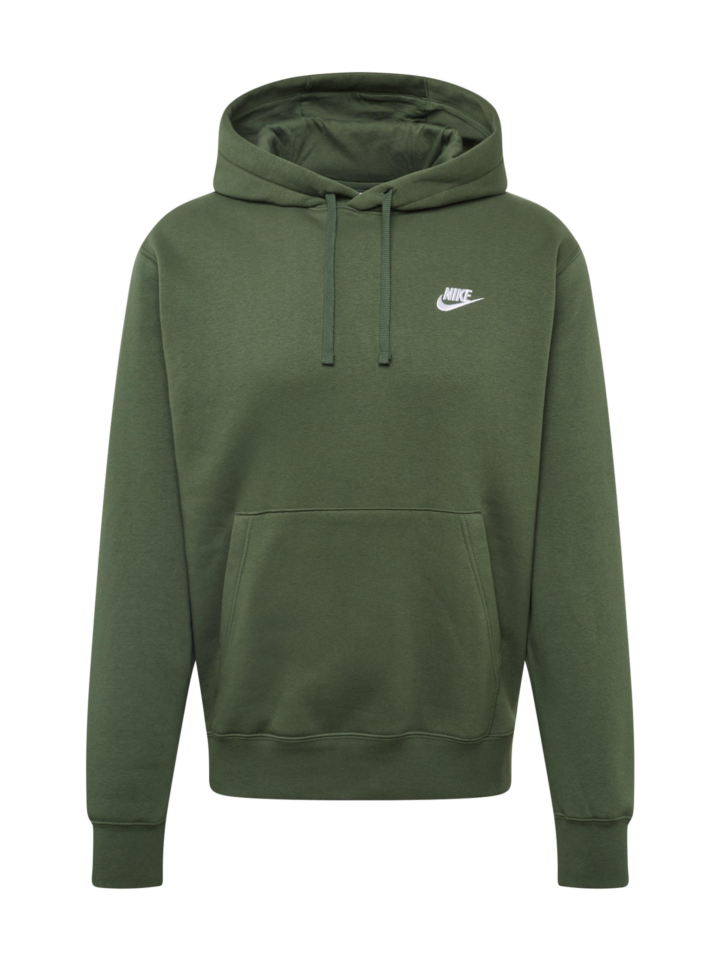Sweatshirt In Sportswear 'club' Dunkelgrün Nike kXOPiZu