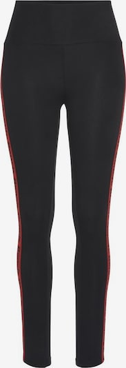 BENCH Leggings in rot / schwarz, Produktansicht