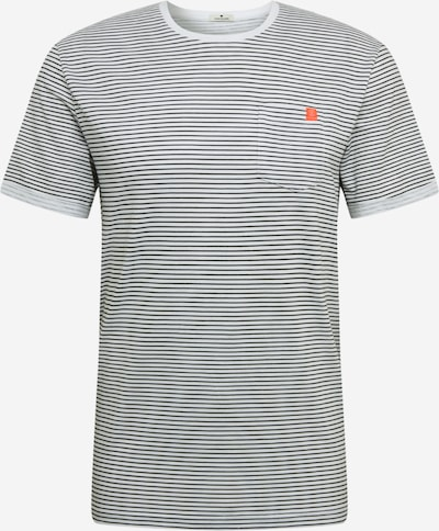 TOM TAILOR Majica | siva / bela barva, Prikaz izdelka