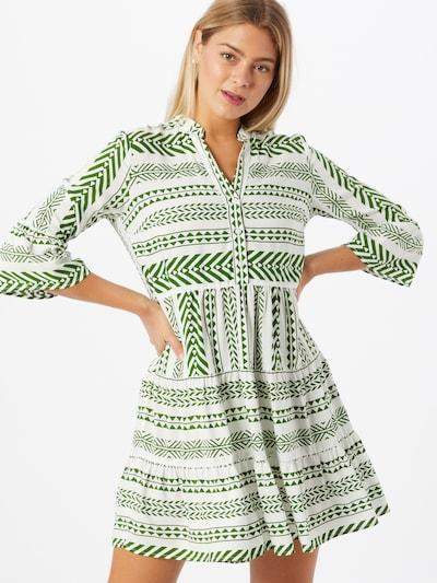 MORE & MORE Košilové šaty - tmavě zelená / bílá: Pohled zepředu