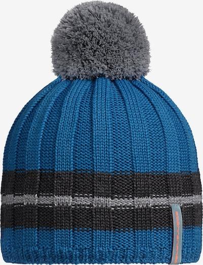 STÖHR Mütze 'Keli' in blau / grau, Produktansicht