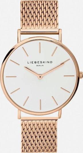 Liebeskind Berlin Montre à affichage analogique en or rose / blanc, Vue avec produit
