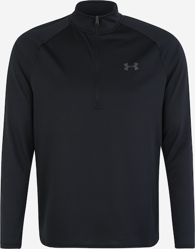 UNDER ARMOUR Shirt 'UA Tech 2.0 1/2 Zip' in schwarz, Produktansicht