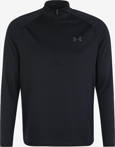 UNDER ARMOUR Shirt 'UA Tech 2.0 1/2 Zip' in schwarz, Produktansicht