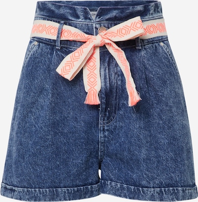 ONLY SHORTS 'CARRIE' in blau / blue denim / lachs / weiß, Produktansicht
