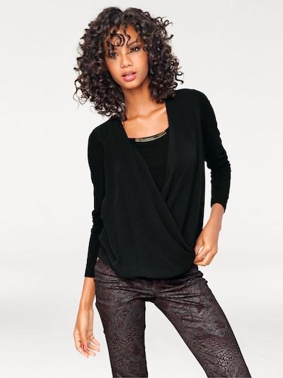 heine Bodyform-Blusenshirt in schwarz, Modelansicht