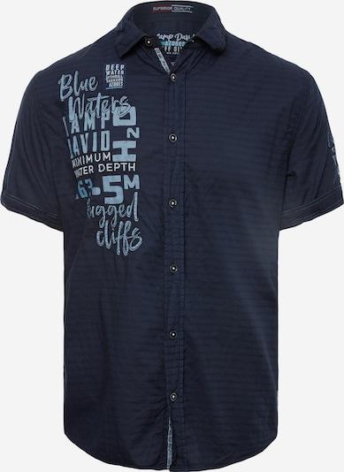 CAMP DAVID Hemd in nachtblau / himmelblau, Produktansicht