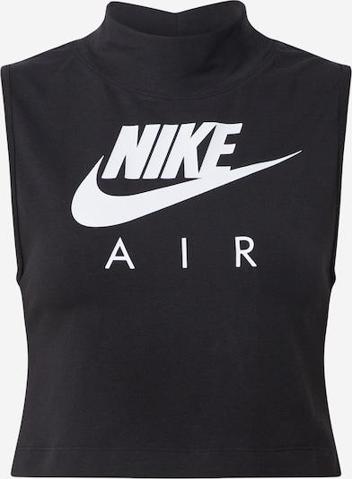Nike Sportswear Top in schwarz / weiß, Produktansicht