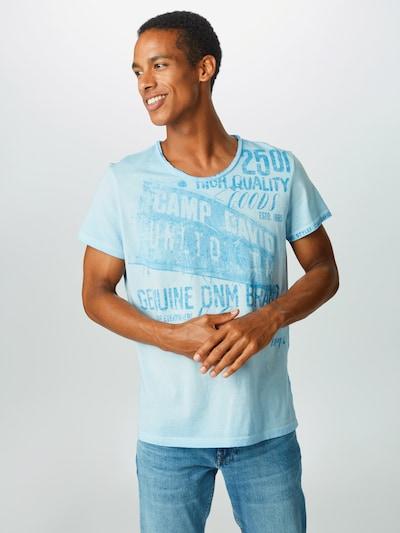 CAMP DAVID T-Shirt in blau / hellblau: Frontalansicht