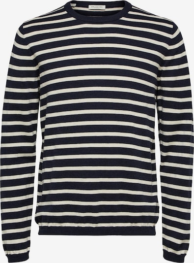 Megztinis iš SELECTED HOMME , spalva - kobalto mėlyna / balta, Prekių apžvalga