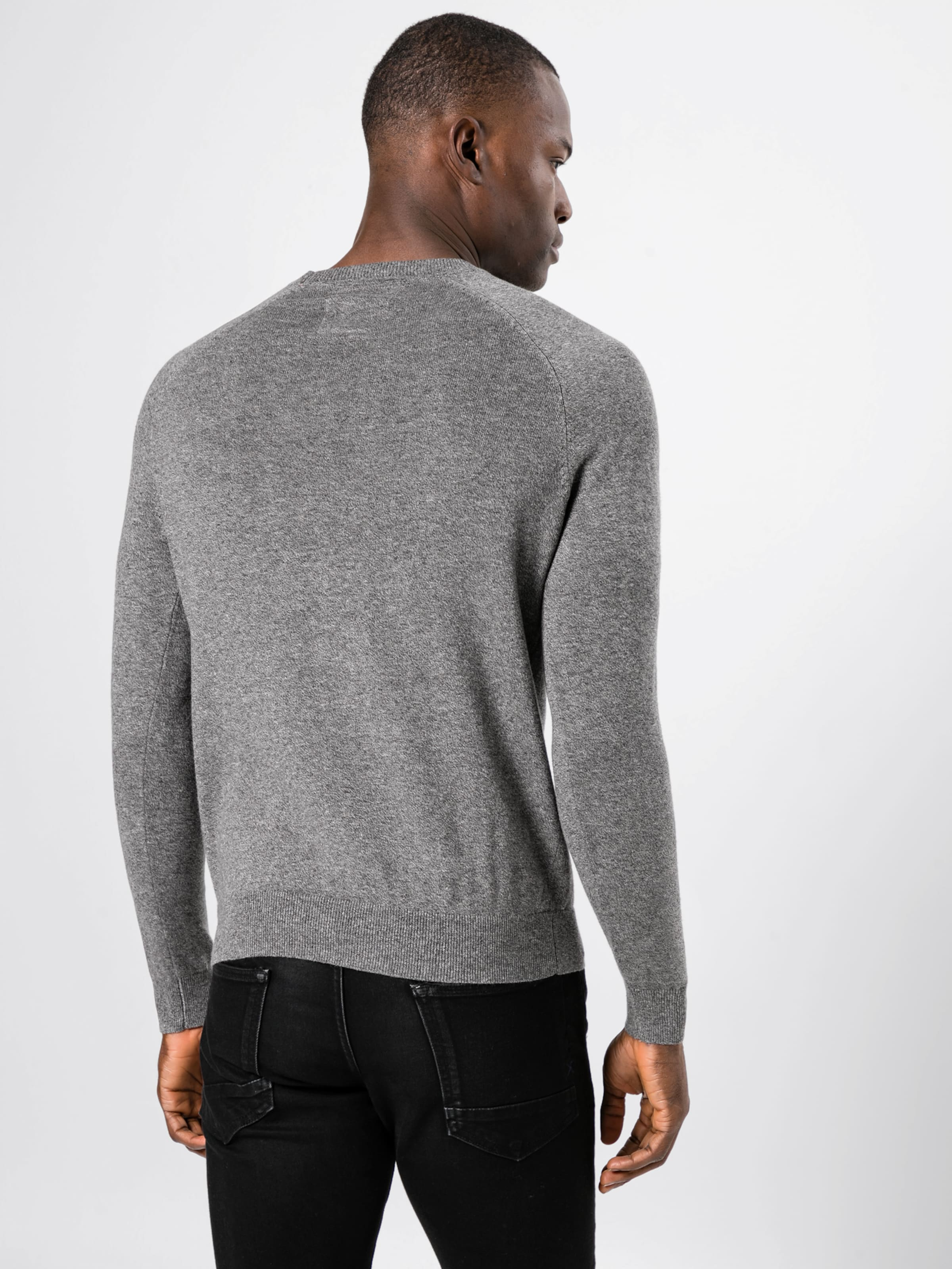 Label Superdry Crew' Grau 'orange Cotton Pullover In OPuTwkZXi