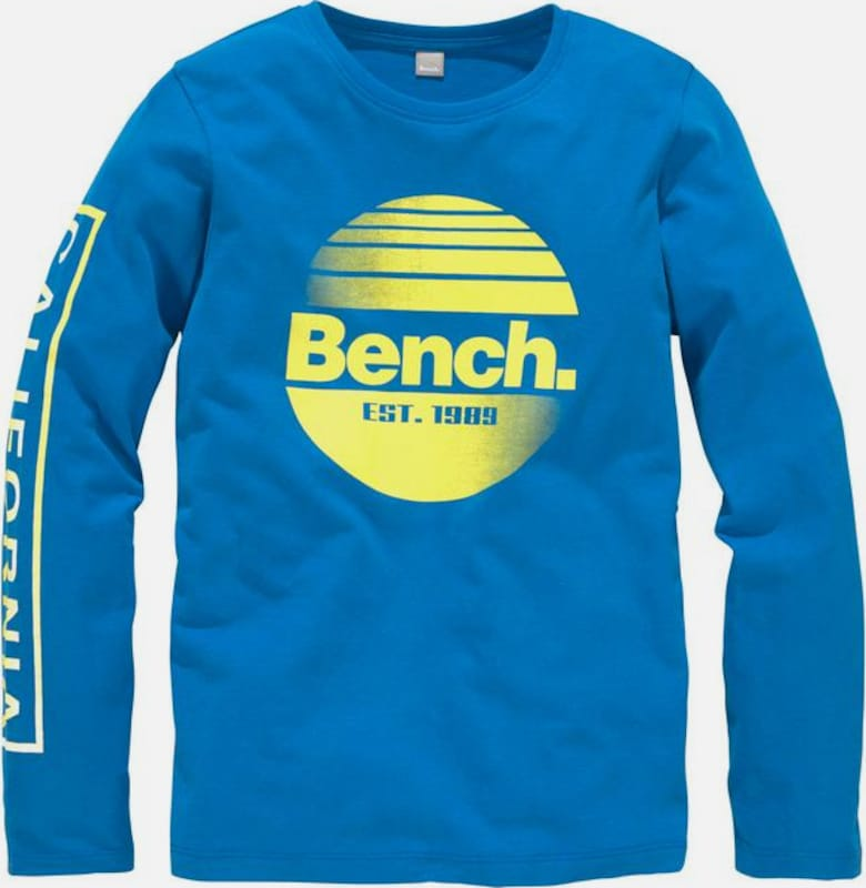 BENCH Shirt in royalblau / gelb, Produktansicht