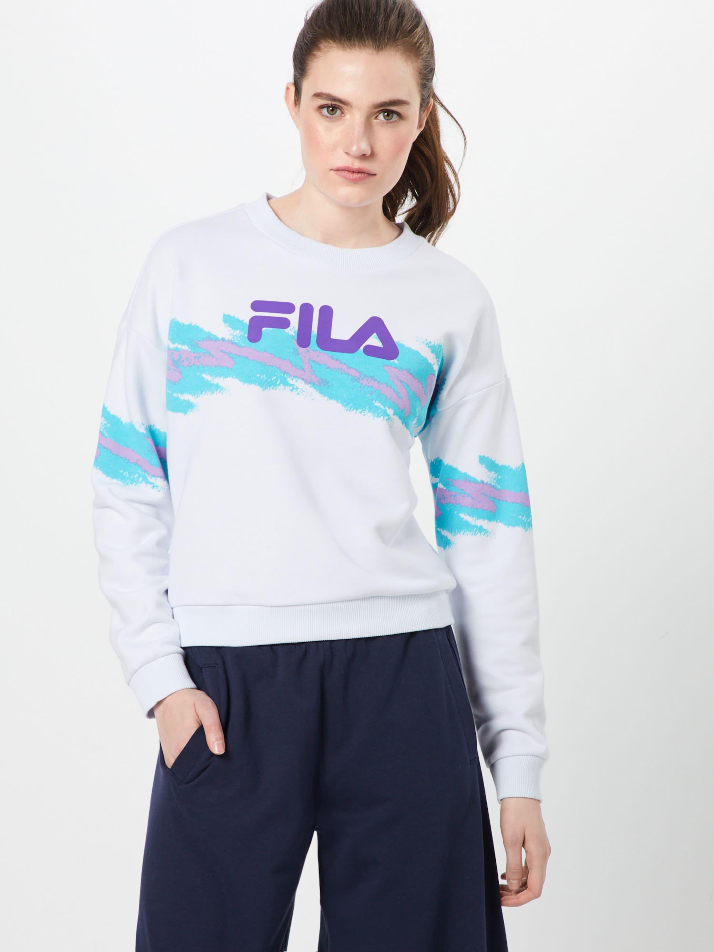 Sweat Fila Crew' shirt TurquoiseBlanc En Buttoned 'justyna vf7yYgb6