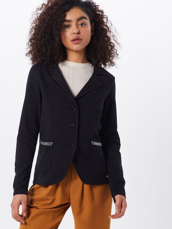 Key Largo Blazer 'WSW RICH' in schwarz, Modelansicht
