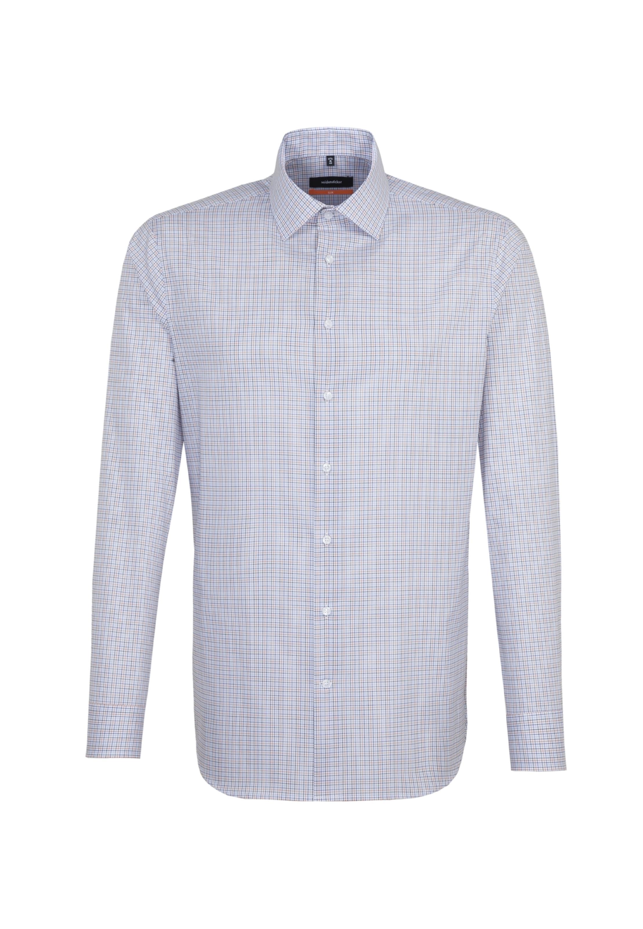In Weiß In Seidensticker Seidensticker Seidensticker Weiß Hemd Hemd HellblauOrange HellblauOrange Y7yf6bg