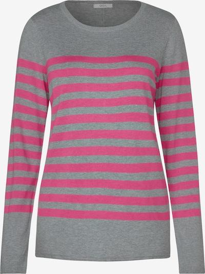 CECIL Pullover in graumeliert / pink, Produktansicht