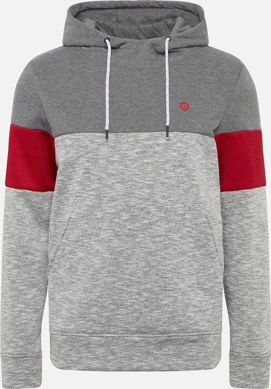 Sweat GrisRouge Jones En 'jcomart shirt Sweat Jackamp; Hood' gbY6yf7v