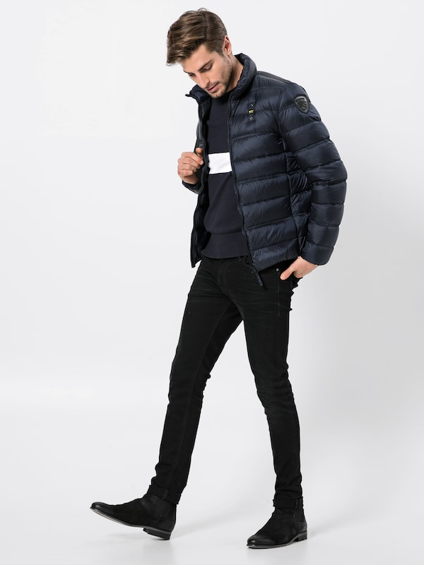 Veste Foncé Piuma' En D'hiver Corti Imbottito Bleu Blauer 'giubbini usa iuTkZXOP